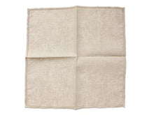 Load image into Gallery viewer, Beige Pocket Square with Hemstitch Edge