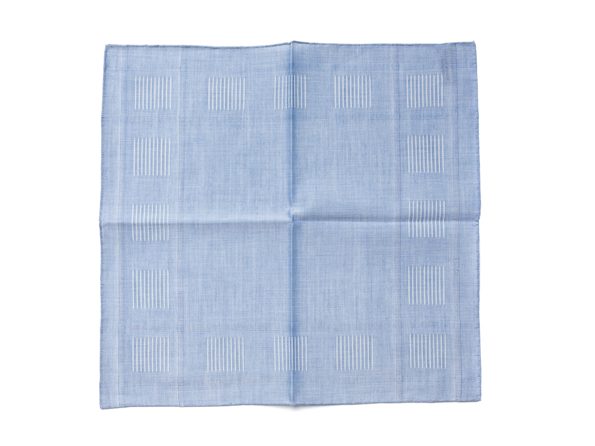 Sky Pocket Square with Square Stitch