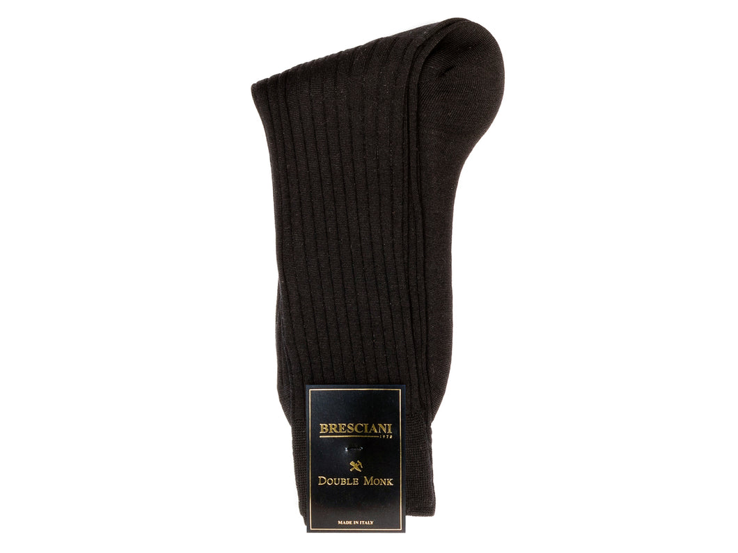 Calf Length Wool Socks Black