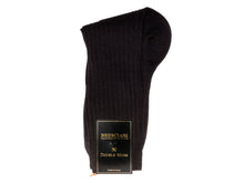 Load image into Gallery viewer, Calf Length Cotton Socks Black