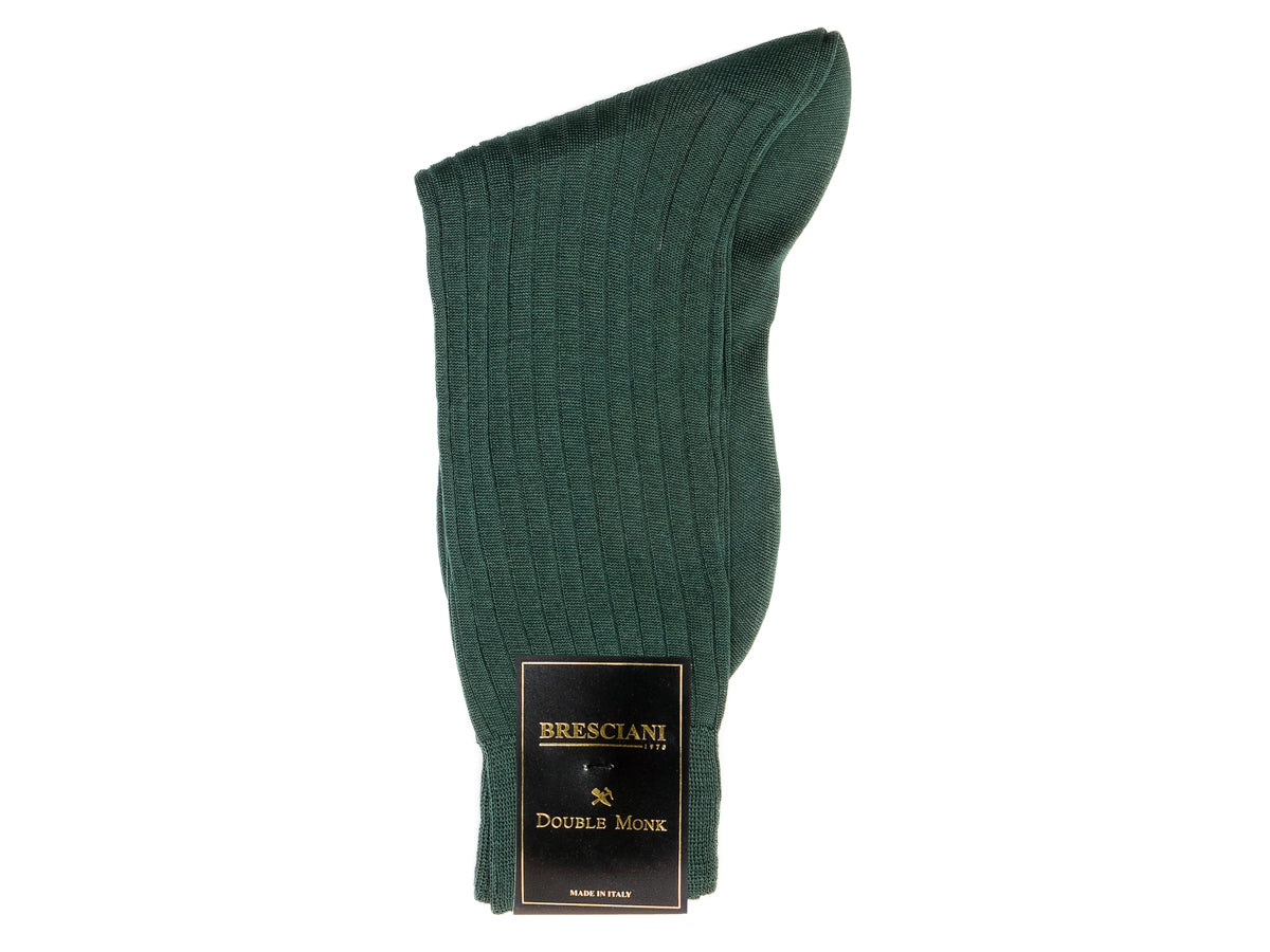 Calf Length Cotton Socks Dark Green