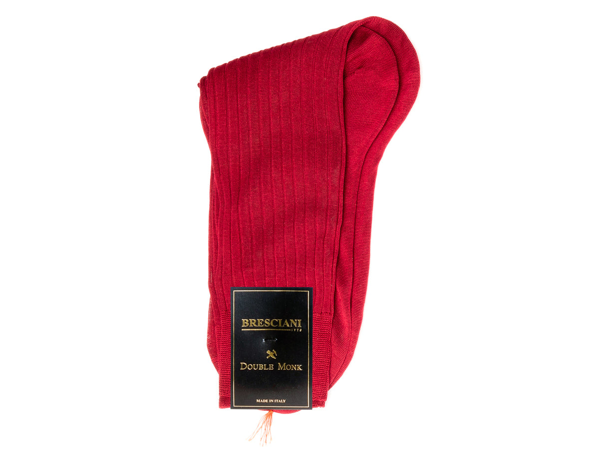 Calf Length Cotton Socks Red