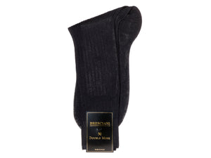Calf Length Cotton Socks Navy