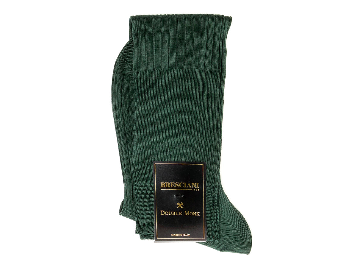 Knee Length Cotton Socks Dark Green