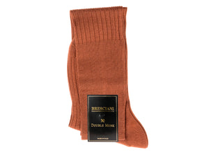 Knee Length Cotton Socks Brown