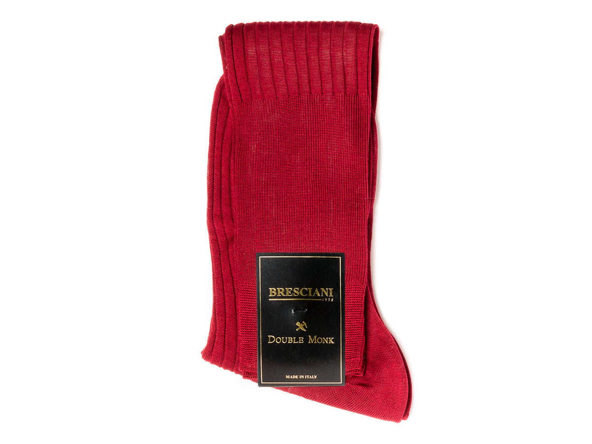 Knee Length Cotton Socks Red