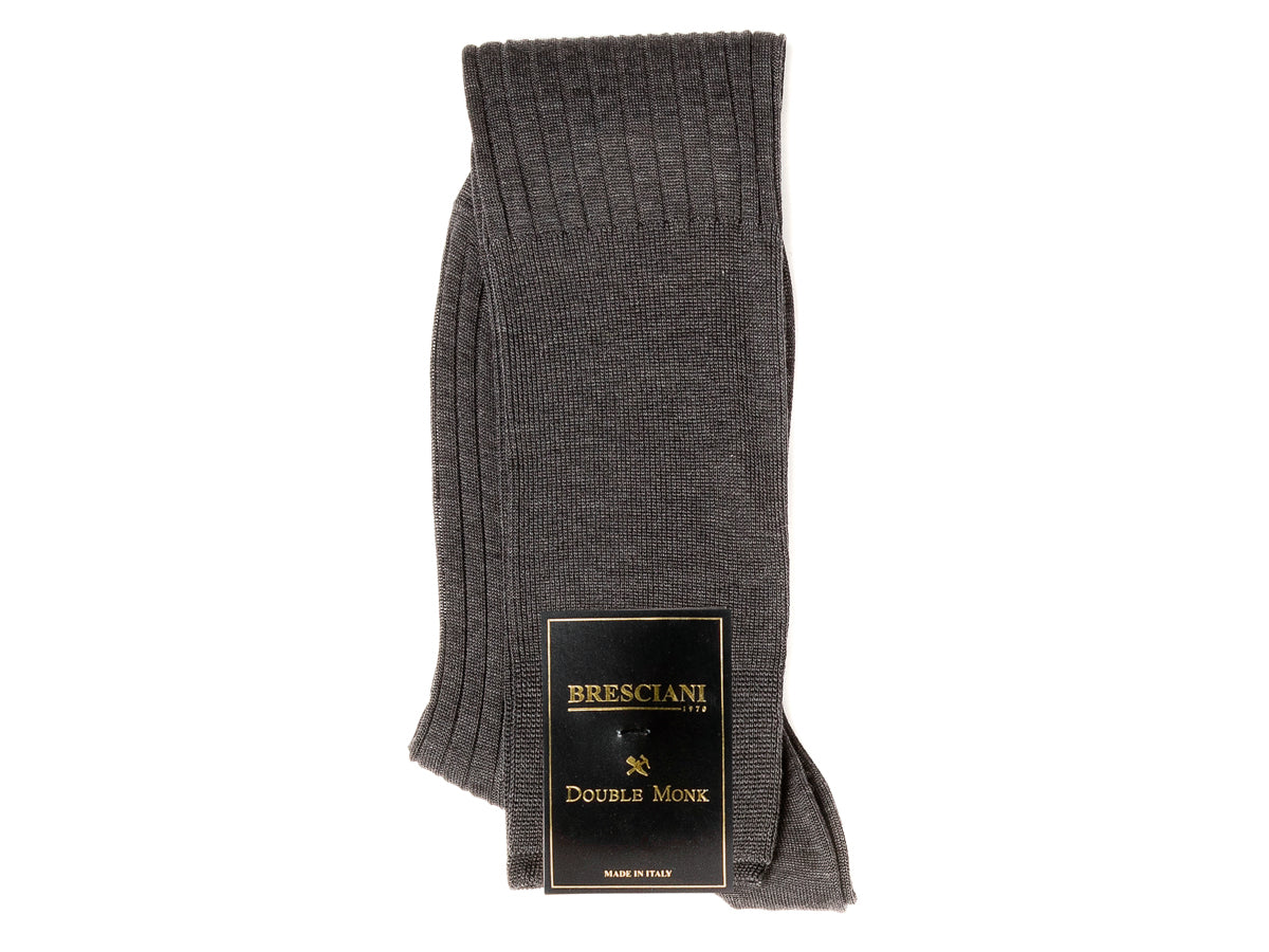 Knee Length Cotton Socks Grey