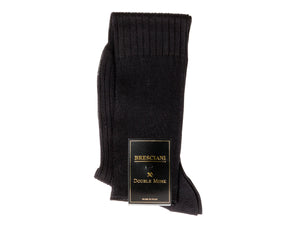 Knee Length Cotton Socks Navy