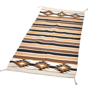 エルパソサドルブランケット (El Paso SADDLEBLANKET) Rio Concho Hawk-Eye Rugs/ラグマット[約163×81cm]NATURAL/TAN