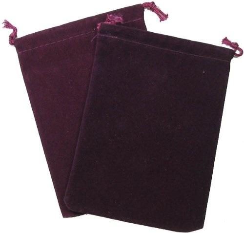 Suedecloth Dice Bag - Small Burgundy