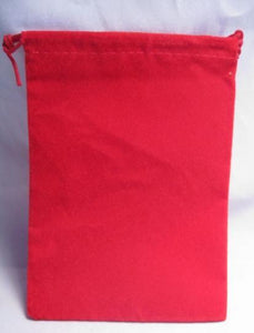 Suedecloth Dice Bag - Small Red