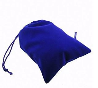 Suedecloth Dice Bag - Small Royal Blue