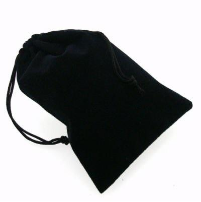 Suedecloth Dice Bag - Small Black