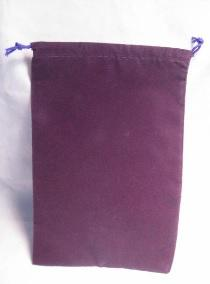 Suedecloth Dice Bag - Large Purple