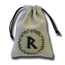 Q-Workshop Dice Bag - Runic Ii (Beige)