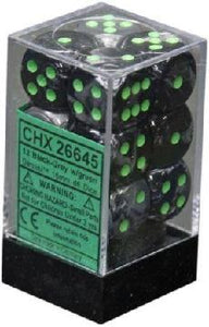 Gemini 12d6 Black-Gray With Green 16mm