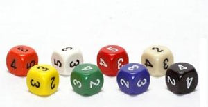 Opaque Averaging D6 Assorted Colors