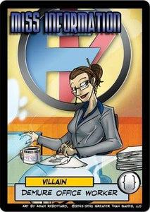 Sentinels Of The Multiverse Extension: Miss Information (Villain)