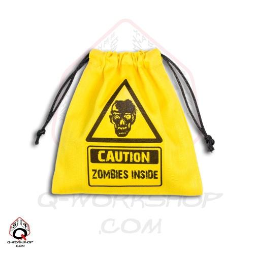 Q-Workshop Dice Bag - Zombies Inside (Yellow)