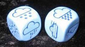 Opaque D6 Light Blue With Blue Weather 18mm Single