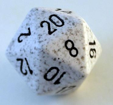 Speckled D20 34mm Arctic Camo Single