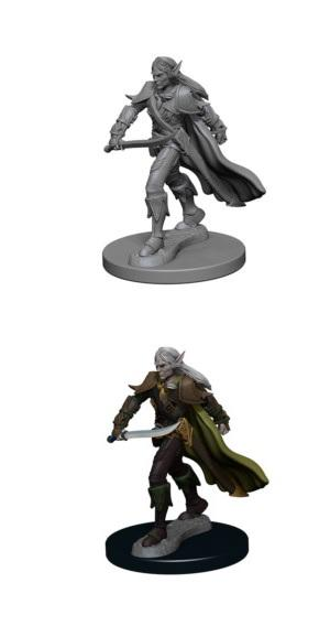 Pathfinder : Deep Cuts Unpainted Miniatures - Elf Male Fighter