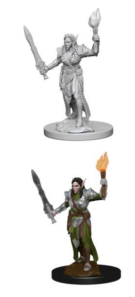 Pathfinder : Deep Cuts Unpainted Miniatures - Female Elf Fighter