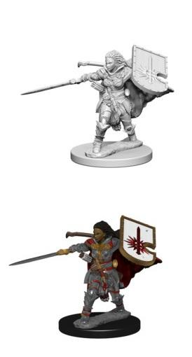 Pathfinder : Deep Cuts Unpainted Miniatures - Female Human Paladin