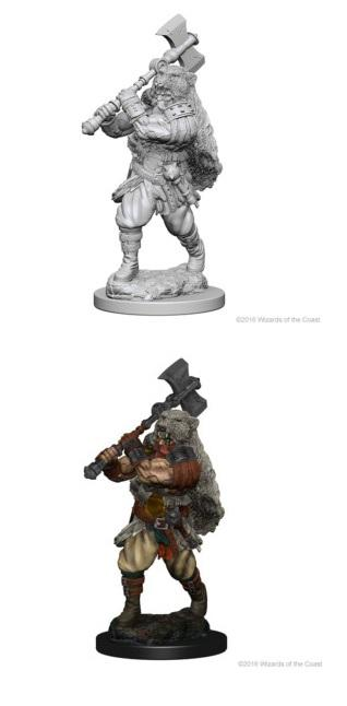 Dungeons & Dragons : Nolzur's Marvelous Unpainted Miniatures - Male Human Barbarian