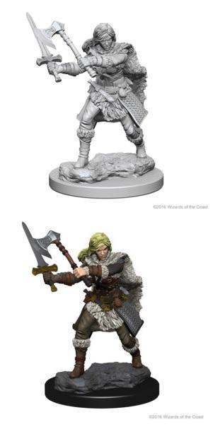 Dungeons & Dragons : Nolzur's Marvelous Unpainted Miniatures - Female Human Barbarian
