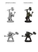 Pathfinder : Deep Cuts Unpainted Miniatures - Half-Orc Male Barbarian
