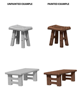 Wizkids : Deep Cuts - Wooden Table & Stools