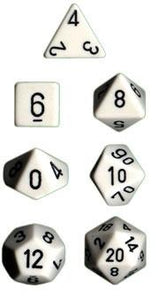 Opaque D20 34mm White With Black Single