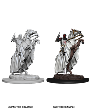 Pathfinder : Deep Cuts Unpainted Miniatures - Skeleton Knight On Horse