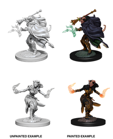 Dungeons & Dragons : Nolzur's Marvelous Unpainted Miniatures - Female Tiefling Warlock