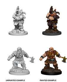 Dungeons & Dragons : Nolzur's Marvelous Unpainted Miniatures - Male Dwarf Barbarian