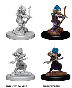 Pathfinder : Deep Cuts Unpainted Miniatures - Female Gnome Rogue