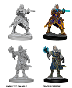 Pathfinder : Deep Cuts Unpainted Miniatures - Male Human Wizard
