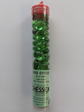 Glass Stones Light Green (Qty 20+) 5.5