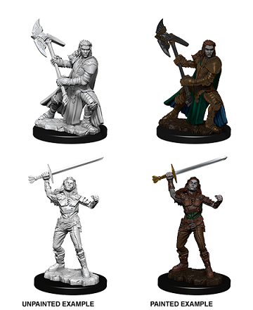 Dungeons & Dragons : Nolzur's Marvelous Unpainted Miniatures - Female Half-Orc Fighter