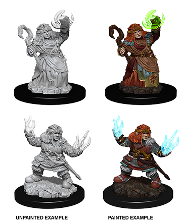 Pathfinder : Deep Cuts Unpainted Miniatures - Female Dwarf Summoner