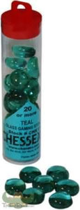 """Glass Stones Teal (Qty 20+) 5.5 """"Tube"""