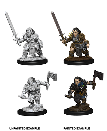 Pathfinder : Deep Cuts Unpainted Miniatures - Female Dwarf Barbarian