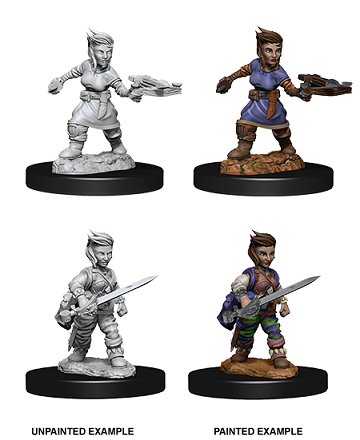 Pathfinder : Deep Cuts Unpainted Miniatures - Female Halfling Rogue