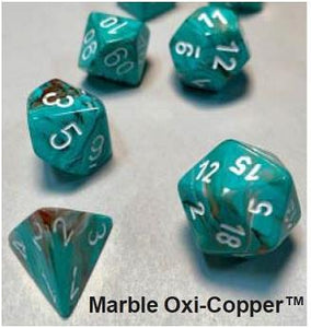 Marble 7-Die Set Oxi-Copper With White