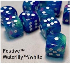 Festive 7-Die Set Waterlily With White