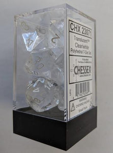 Translucent 7-Die Set Clear With White