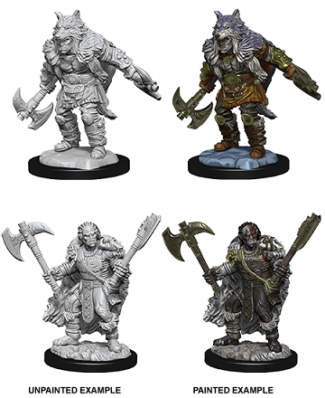 Dungeons & Dragons : Nolzur's Marvelous Unpainted Miniatures - Male Half-Orc Barbarian
