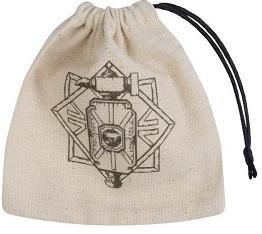 Q-Workshop Dice Bag - Dwarven Beige Black Basic