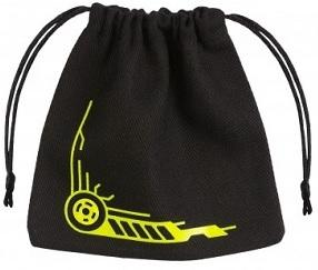 Q-Workshop Dice Bag - Galactic Black With Yellow
